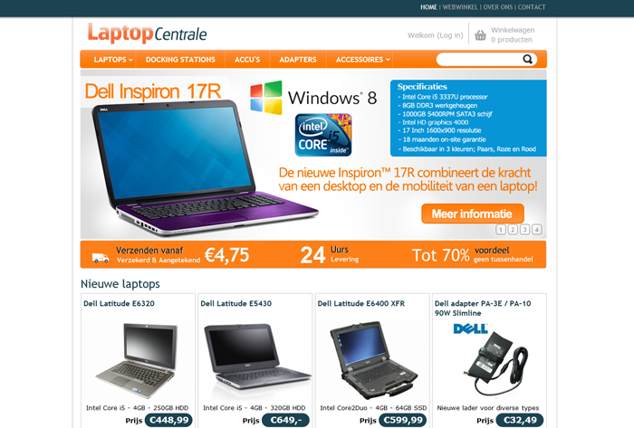 Webshopsysteeem laptopcentrale.nl